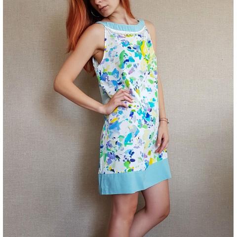 Дамска рокля с принт акварел